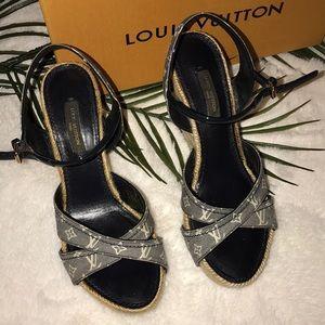 6a06c1256935 Louis Vuitton Shoes - LOUIS VUITTON • authentic majorica Classic wedges